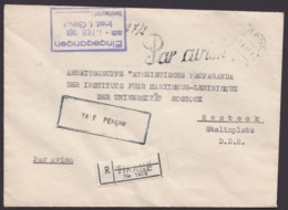 "Luftpost-R- Brief Nach Rostock, 1961, Ra ""Taxe Percue"", Selten - Albanien"