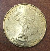 13 AIX EN PROVENCE SANTON FOUQUE LE COUP DE MISTRAL MEDAILLE TOURISTIQUE MONNAIE DE PARIS 2009 JETON MEDALS COINS TOKENS - Monnaie De Paris