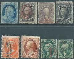 Stati Uniti - United States,U.S.A - Stamps Used From 1851 To 1861 With Defects In Perforation,as Seen In The Photo! - 1847-99 General Issues