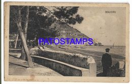 137610 ITALY MAIORI SALERNO VIEW PARTIAL SPOTTED POSTAL POSTCARD - Italien