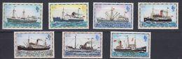 Falkland Islands 1974 Definitives / Mail Ships Low Values 7v ** Mnh (48681) - Falkland Islands