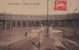 CAPDENAC(DEPOT DES MACHINES) CARTE EN COULEUR TOILEE - Francia