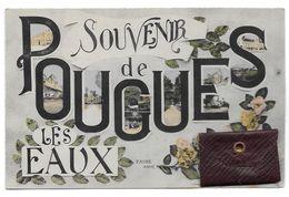 SOUVENIR DE POUGUES LES EAUX CARTE A SYSTEME ENVELOPPE QUI S OUVRE - CPA NIEVRE - Pougues Les Eaux