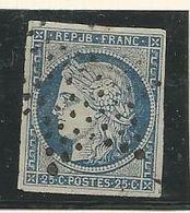 CERES N° 4 CACHET ETOILE / Petit Aminci - 1849-1850 Ceres