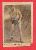 Carte Serie A N° 31 Primo CARNERA Boxe Boxeur Les Vedettes Sportives Chocolat KEMMEL N° 3 ARISTA - Trading-Karten