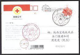 CHINA Donation Certificate(1000 CNY To China Red Cross From Individual For COVID-19) On PC, JiangMen COVID-19 PMK - Enfermedades