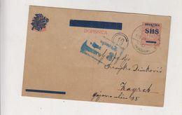 CROATIA SHS 1919 Yugoslavia Susak Censored Postal Stationery - Kroatien