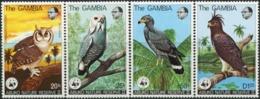 GAMBIA 1978 WWF Abuko Nature Reserve Eagle Hawk Owl Eagles Owls Birds Of Prey Animals Fauna MNH - Aigles & Rapaces Diurnes