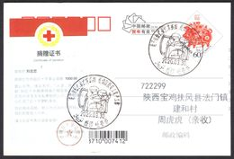 CHINA Donation Certificate(1000 CNY To China Red Cross From Individual For COVID-19) On PC,Turpan COVID-19 PMK - Enfermedades