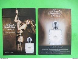 AGENT PROVOCATEUR  -  Carte Parfumée (recto Verso) - Cartes Parfumées