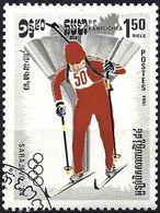 Kampuchea 1984 - Mi 542 - YT 453 ( Sarajevo Olympics : Biathlon ) - Kampuchea