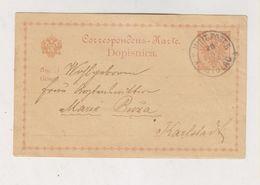 BOSNIA AND HERZEGOVINA STOLAC 1880 Postal Stationery To Croatia - Bosnien-Herzegowina