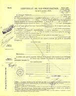 PAPIER   Ancien De  ARMENTIERES - Certificat De Vie - Procuration Du  3 Septembre 1941 - Vecchi Documenti