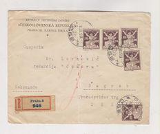 CZECHOSLOVAKIA 1922 PRAHA Registered Cover To Yugoslavia - Czechoslovakia