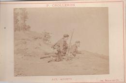 Photos Originale Ancienne Ad. Braun & Cie Militaire Infanterie Aux Aguets De P Grolleron 1870 Ref 743 - War, Military