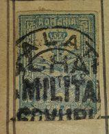 ROMANIA-GALATZ,MILITIA,STAMP-USED STAMP - Romania