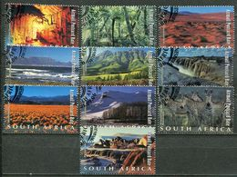 Südafrika South Africa Mi# 1403-12 Gestempelt(FDC/SST)/used/CTO - Tourism, Landscapes, Zebra - South Africa (1961-...)