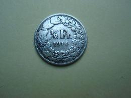 1/2 Franc 1914 Helvetia. Argent - Silver - Suisse