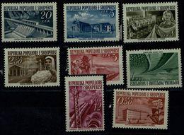 ALBANIA 1953 RECONSTRUCTION MI No 525-32 MNH VF !! - Albanien