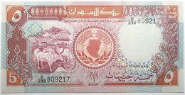 Soudan - 5 Pounds - 1991 - PICK 45 - NEUF - Sudan
