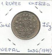 G9 Nepal 1 Rupee 2036 (1979) KM#828a - Nepal
