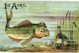 1er AVRIL -  FLACON D' ABSINTHE - - 1° Aprile (pesce Di Aprile)