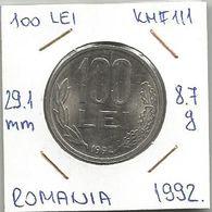 G9  Romania 100 Lei 1992. KM#111 - Roumanie