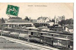 CHAGNY - Les Gares Et Le Château - Chagny