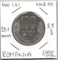 B1  Romania 100 Lei 1992. KM#111 - Roumanie