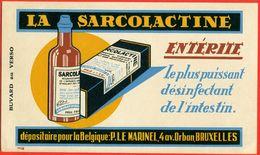 Buvard LA SARCOLACTINE (Marinel, Bruxelles) - Droguerías
