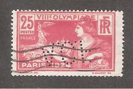 Perforé/perfin/lochung France No 184  A.C.F SA Automobiles Et Cycles Peugeot - France