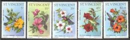St.VINCENT  Birds,flowers Set 5 Stamps  MNH - Oiseaux