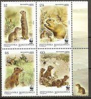 Macedonia 2011 Mi.No. 610 - 613 Makedonien Mammals European Ground Squirrel WWF M\sh MNH** 4.80 € - Macédoine