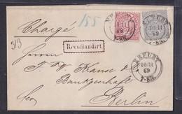 NDP., R-Ferbrief Mit  Mi.-Nr.16, 17 - North German Conf.