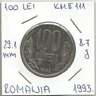 B2 Romania 100 Lei 1993. KM#111 - Roumanie