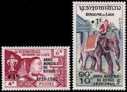 ✔️  Laos Lao 1960 - Annee Mondiale De Refugie -  Mi. 103/104 ** MNH - €14 - Laos