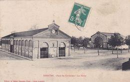 Cpa SAMATAN PLACE DES CORDELIERS LES HALLES - France