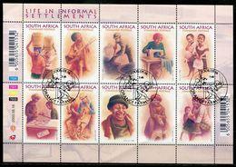 Südafrika South Africa Mi# 1489-98 Gestempelt(FDC/SST)/used/CTO - Informal Settlements - South Africa (1961-...)