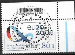 2020  Deutschland Allem. Fed.Mi. 3554 FD-used Bonn  EOR Vorsitz Deutschlands Im Rat Der Europäischen Union. - [7] République Fédérale