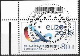 2020 Allem. Fed. Deutschland Germany Mi. 3554 FD-used Bonn Vorsitz Deutschlands Im Rat Der Europäischen Union. - European Ideas