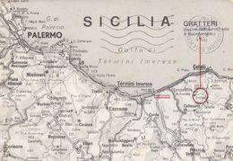 GRATTERI-PALERMO-CARTOLINA GEOGRAFICA- VERA FOTO-VIAGGIATA IL  IL 3-7-1980 - Palermo