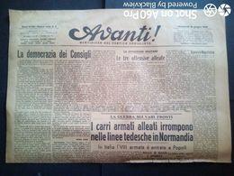 AVANTI (QUOTIDIANO DEL PARTITO SOCIALISTA) DEL 14 GIUGNO 1944 - Guerra 1939-45