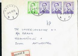 Doc. De KNOKKE  - A 2 A - Du 24/08/71 En Rec.  (E) - Marcophilie