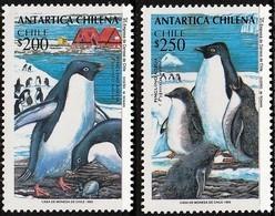 1993 Chile Adelie Penguin Set And Minisheet (** / MNH / UMM) - Pingouins & Manchots