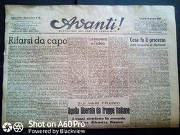 AVANTI (QUOTIDIANO DEL PARTITO SOCIALISTA) LOTTO X 3 DAL 16 Al 18 GIUGNO 1944 - Guerra 1939-45