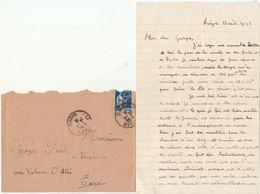 LAC Chantier De Jeunesse Groupement 18 - Cad Le Vigan Gard 1941 - Marcophilie (Lettres)