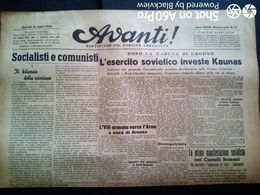 AVANTI (QUOTIDIANO DEL PARTITO SOCIALISTA) LOTTO X 6 DAL 18 Al 23 LUGLIO 1944 - Guerra 1939-45