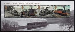 GB 2013 Mini Sheet Celebrating Classic Locomotives Ireland - Hojas Bloque