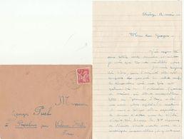 LAC Chantier De Jeunesse Groupement 18 - Cad FB Molières Cavaillac Gard 1941 - Marcophilie (Lettres)