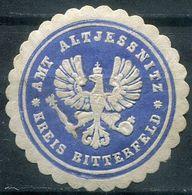 Siegelmarke - Amt ALTJESSNITZ, Kreis BITTERFELD - Vecchi Documenti